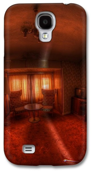 Creepy Digital Galaxy S4 Cases - Red Room Galaxy S4 Case by Nathan Wright