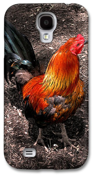 Original Art Photographs Galaxy S4 Cases - Red Rooster Galaxy S4 Case by Colleen Kammerer