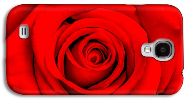 Nature Center Galaxy S4 Cases - Red Rose 1 Galaxy S4 Case by Az Jackson