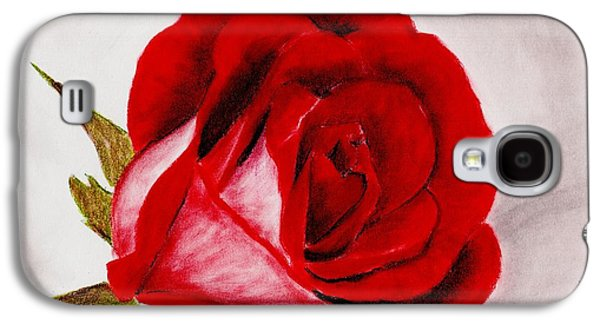 Ancient Galaxy S4 Cases - Red Rose Galaxy S4 Case by Anastasiya Malakhova