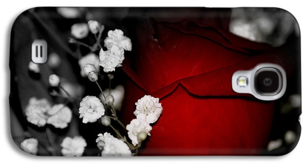 Photographs With Red. Galaxy S4 Cases - Red Rose in shadows Galaxy S4 Case by Laurie Pike