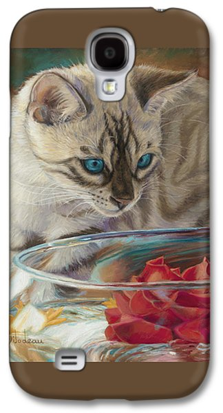 Domestic Galaxy S4 Cases - Red Rose Galaxy S4 Case by Lucie Bilodeau