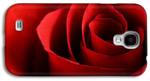 Close Up Floral Galaxy S4 Cases - Red rose macro Galaxy S4 Case by Johan Swanepoel