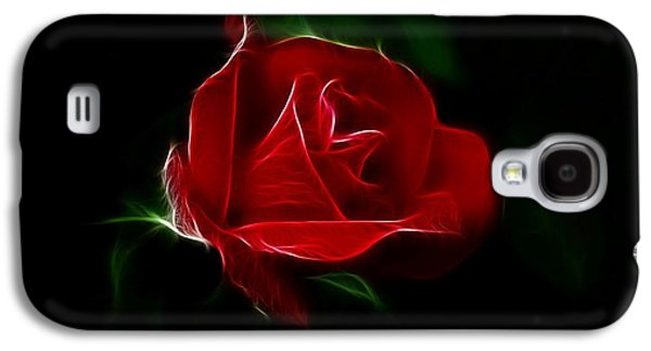 Indiana Flowers Galaxy S4 Cases - Red Rose Galaxy S4 Case by Sandy Keeton