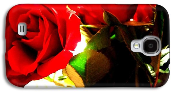 Floral Jewelry Galaxy S4 Cases - Red Rose  Galaxy S4 Case by Shannon Bender