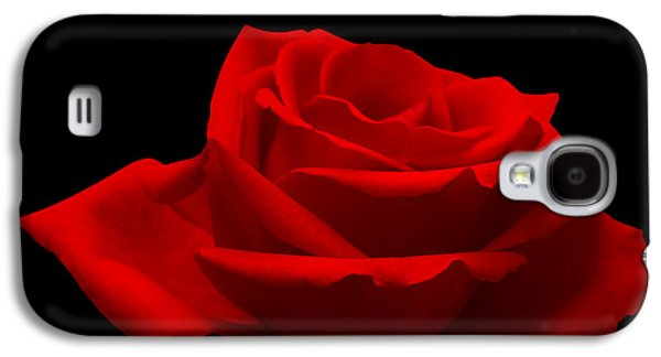 Elegance Photographs Galaxy S4 Cases - Red Rose on Black Galaxy S4 Case by Wim Lanclus