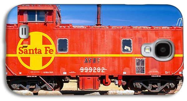 Caboose Photographs Galaxy S4 Cases - Red Santa Fe Caboose, Arizona Galaxy S4 Case by Panoramic Images