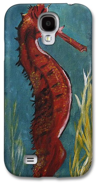 Waterscape Galaxy S4 Cases - Red Seahorse - SOLD Galaxy S4 Case by Christiane Schulze Art And Photography
