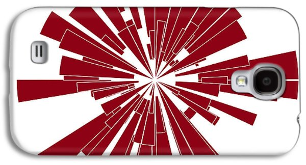 Abstract Forms Drawings Galaxy S4 Cases - Red Shape Galaxy S4 Case by Frank Tschakert