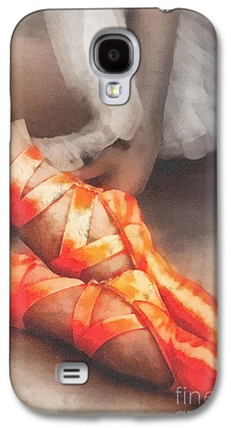 Tutus Paintings Galaxy S4 Cases - Red Shoes Galaxy S4 Case by Mo T