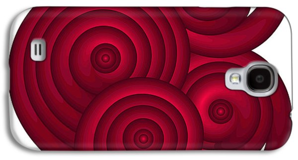 Abstract Nature Paintings Galaxy S4 Cases - Red Spirals Galaxy S4 Case by Frank Tschakert