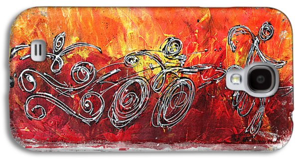 Decoration Galaxy S4 Cases - Red Splash Triathlon Galaxy S4 Case by Alejandro Maldonado