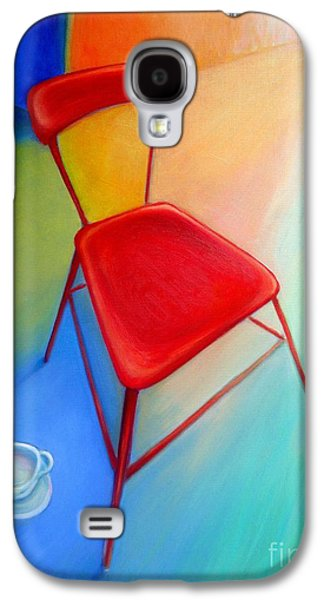 Empty Chairs Paintings Galaxy S4 Cases - Red Studio Chair Galaxy S4 Case by Frederick  Luff