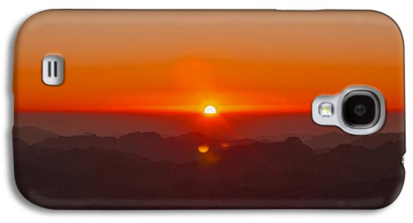 Bible Pyrography Galaxy S4 Cases - Red Sunrise in Sinai Montains Galaxy S4 Case by Julis Simo