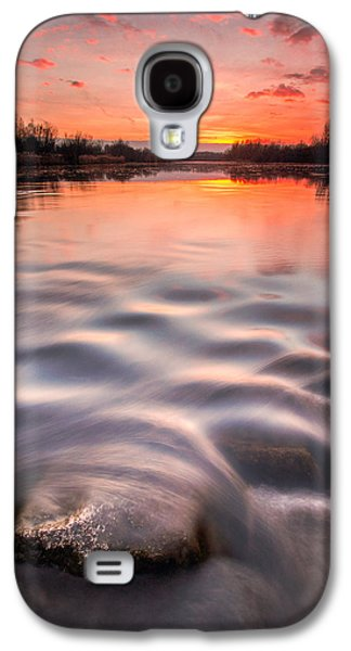 Landscape Photographs Galaxy S4 Cases - Red sunset Galaxy S4 Case by Davorin Mance