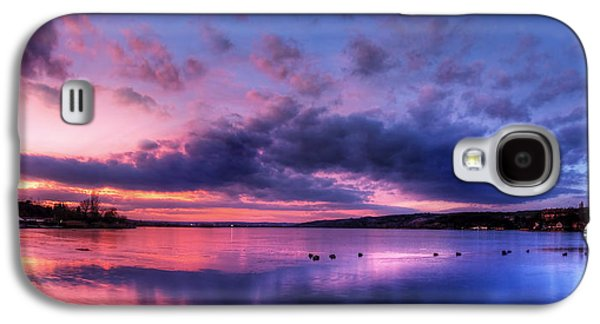 Waterscape Pyrography Galaxy S4 Cases - Red Sunset Galaxy S4 Case by Steffen Gierok