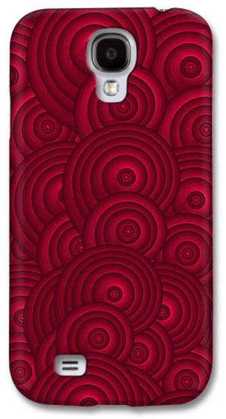 Red Wine Prints Galaxy S4 Cases - Red Swirls Galaxy S4 Case by Frank Tschakert