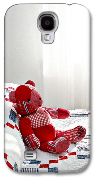 Red Teddy Bear Galaxy S4 Case by Art Block Collections