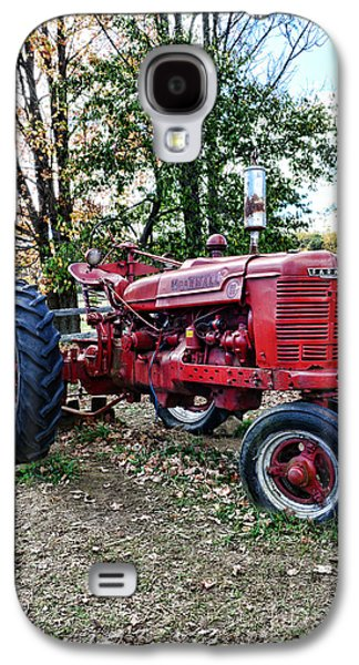 Harvest Time Galaxy S4 Cases - Red Tractor 1 Galaxy S4 Case by Paul Ward