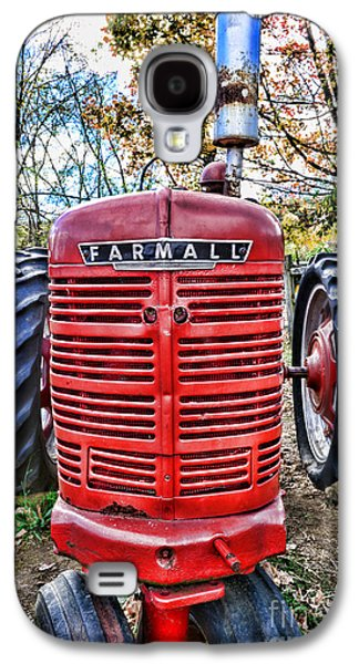 Harvest Time Galaxy S4 Cases - Red Tractor Galaxy S4 Case by Paul Ward