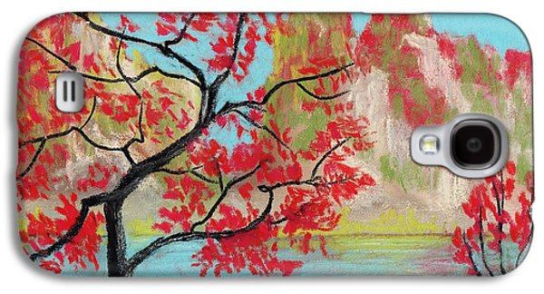 Surrealism Galaxy S4 Cases - Red Trees Galaxy S4 Case by Anastasiya Malakhova