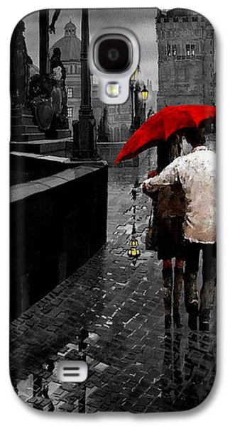 Architecture Mixed Media Galaxy S4 Cases - Red Umbrella 2 Galaxy S4 Case by Yuriy Shevchuk