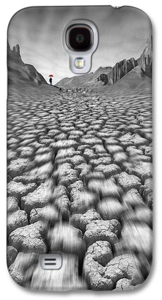 Umbrellas Digital Galaxy S4 Cases - Red Umbrella Galaxy S4 Case by Mike McGlothlen