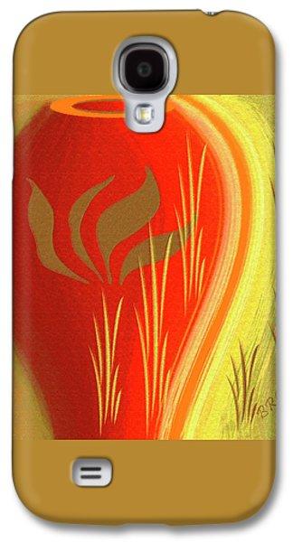 Red Vase Galaxy S4 Case by Ben and Raisa Gertsberg
