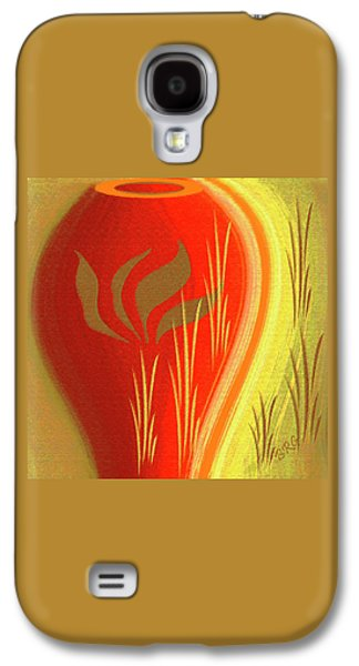 Ben Gertsberg Digital Art Galaxy S4 Cases - Red Vase Galaxy S4 Case by Ben and Raisa Gertsberg