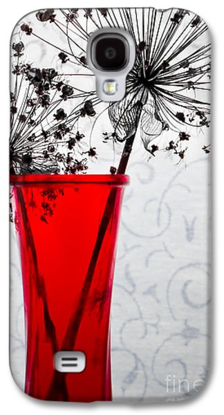 Red Vase With Dried Flowers Galaxy S4 Case by Michael Arend