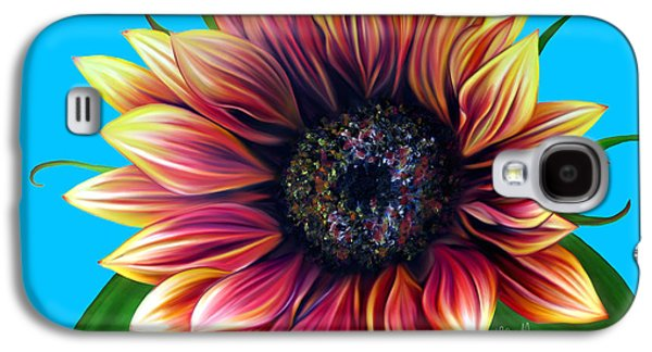 Botanical Pastels Galaxy S4 Cases - Red Velvet Galaxy S4 Case by Laura Bell
