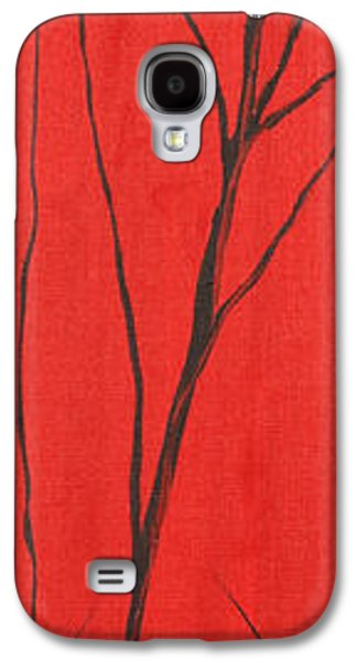 Landscape Acrylic Prints Galaxy S4 Cases - Red White And Black 1 Of 3 Galaxy S4 Case by Roni Ruth Palmer