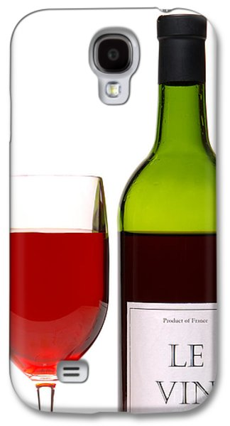 Sample Galaxy S4 Cases - Red Wine and Bottle Galaxy S4 Case by Olivier Le Queinec