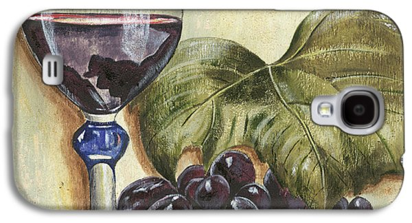 Grape Leaf Galaxy S4 Cases - Red Wine And Grape Leaf Galaxy S4 Case by Debbie DeWitt