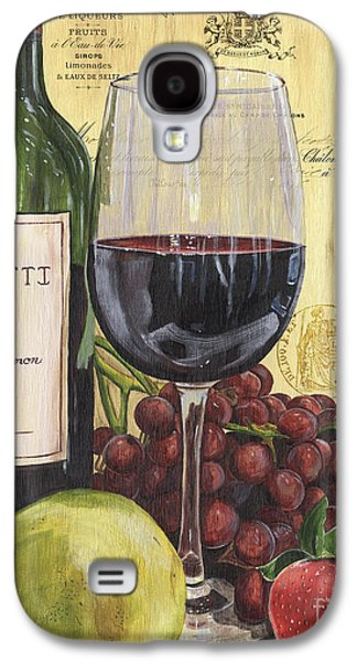 Champagne Paintings Galaxy S4 Cases - Red Wine and Pear Galaxy S4 Case by Debbie DeWitt