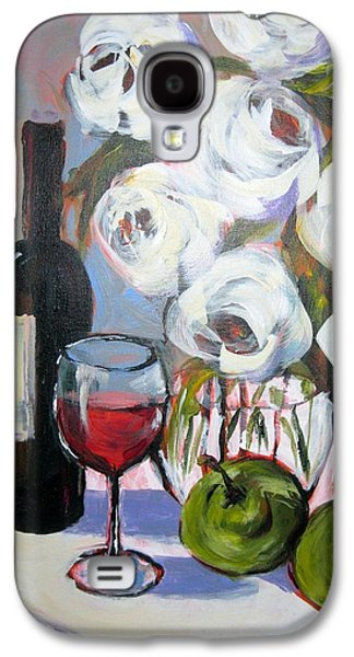 Malbec Galaxy S4 Cases - Red Wine Green Apples Galaxy S4 Case by Gloria Avner