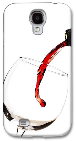 Pour Photographs Galaxy S4 Cases - Red Wine Poured into Wineglass Galaxy S4 Case by Dustin K Ryan
