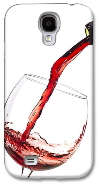 Pour Photographs Galaxy S4 Cases - Red Wine Pouring into wineglass splash Galaxy S4 Case by Dustin K Ryan