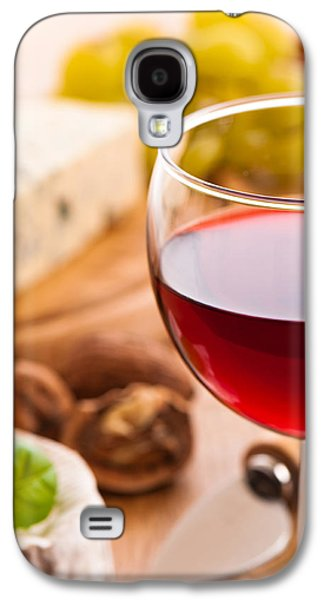 French Open Galaxy S4 Cases - Red Wine With Cheese Galaxy S4 Case by Amanda And Christopher Elwell
