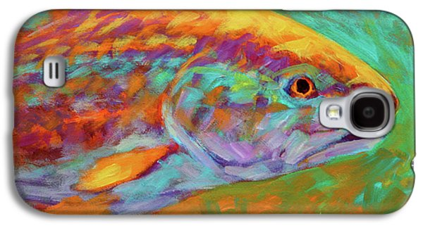 Flyfishing Galaxy S4 Cases - RedFish Portrait Galaxy S4 Case by Savlen Art