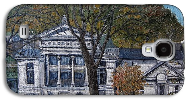 Montreal Buildings Paintings Galaxy S4 Cases - Redpath Museum Galaxy S4 Case by Reb Frost