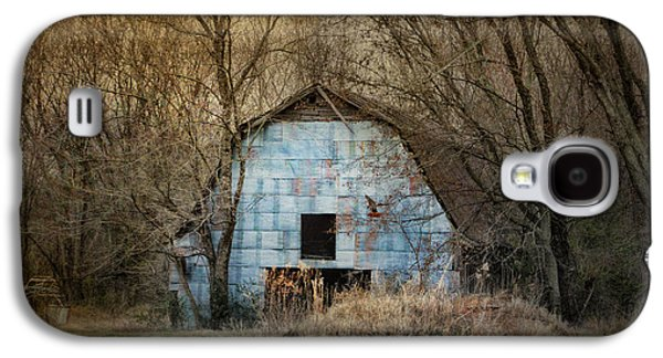 Tennessee Barn Galaxy S4 Cases - Redtail At The Blue Barn Galaxy S4 Case by Jai Johnson