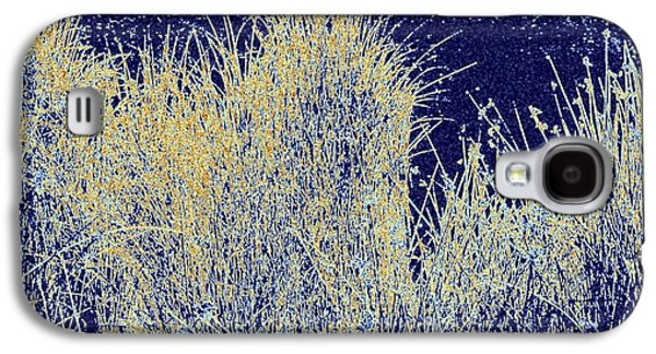Abstract Digital Galaxy S4 Cases - Reeds Along The Shore Galaxy S4 Case by Will Borden