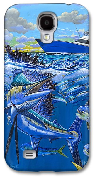 Striped Marlin Galaxy S4 Cases - Reef sail OFF00151 Galaxy S4 Case by Carey Chen