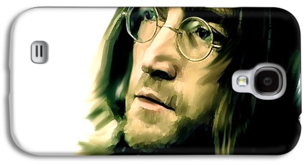 Beatles Drawings Galaxy S4 Cases - Reflection II John Lennon Galaxy S4 Case by Iconic Images Art Gallery David Pucciarelli