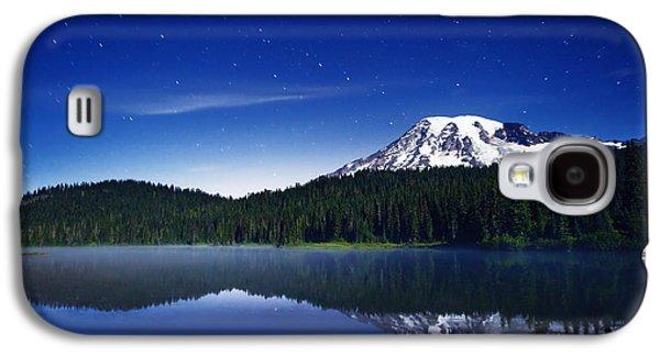 Landscape Acrylic Prints Galaxy S4 Cases - Reflection Lake Stars Galaxy S4 Case by Darren  White