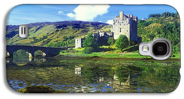 Alga Galaxy S4 Cases - Reflection Of A Castle And A Mountain Galaxy S4 Case by Panoramic Images