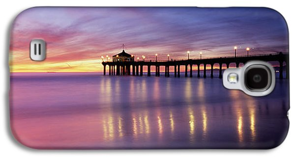 Evening Scenes Photographs Galaxy S4 Cases - Reflection Of A Pier In Water Galaxy S4 Case by Panoramic Images