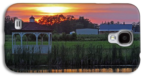 Sunset Abstract Galaxy S4 Cases - Reflection of Beauty Galaxy S4 Case by Dawn Gari
