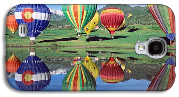 Hovering Galaxy S4 Cases - Reflection Of Hot Air Balloons On Galaxy S4 Case by Panoramic Images